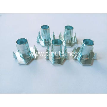 M8x17Half thread riveting Zinc plated Tee nuts